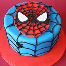 Spiderman Cake Designs Spiderman Birthday Cake Ferns N Petals