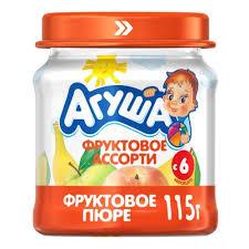 <b>Пюре Агуша Фруктовое</b> ассорти, с 6 мес., 115 г. (12 шт) — купить ...