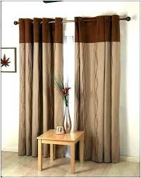 red and brown curtains