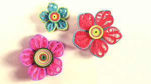 Paper Art Flower How To Make Beautiful Flower Design Using Paper Art Quilling Paper