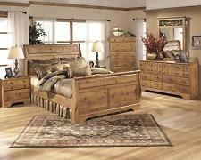 king bedroom sets ashley furniture. Ashley Bittersweet B219 King Size Sleigh Bedroom Set 5pcs In Light Brown Casual Sets Furniture E