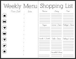weekly meal planning for two weekly meal planner with grocery list template ender realtypark co