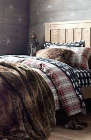 full size of lynx faux fur fullqueen duvet cover set lodge plaid flannel bedding with luxe