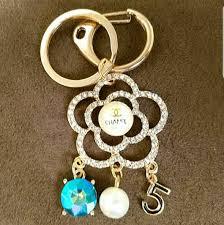 Designer Keychains Replica New Chanel 18kt Gp Cz Replica Keychain Or Purse Charm