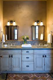 get this look with the quoizel nicholas collection photo credit rustic bathroom by bozeman