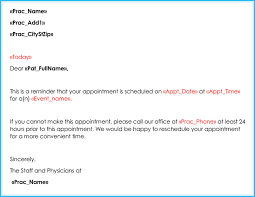 Doctor Appointment Letter 10 Sample Letters Formats