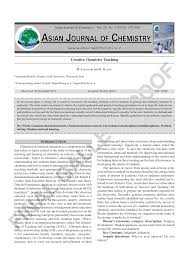 Asian curriculum in chemistry