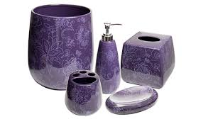 Elegant Purple Bathroom Accessories Home Design Lover