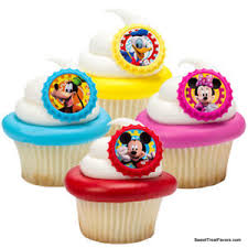 Mickey Minnie Mouse Cupcake Cake Topper 12 18 24 Favors