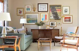 Mid Century Living Room Danish Lounge Chairs Gallery Wall Mersman