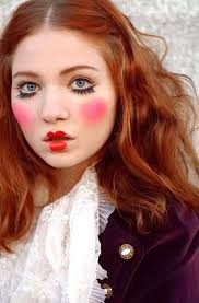 cirque clown make up idea even if you did normal eye make up i think it would be enough to show your a clown but without over the top costume y look