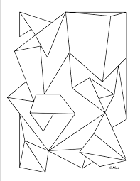Adult Geometry Coloring Coloring Page Geometry Shapes Geometry