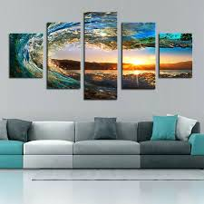 >huge canvas wall art large canvas art cheap modern art prints large  huge canvas wall art 5 piece sea wave painting large canvas wall art huge modern ocean