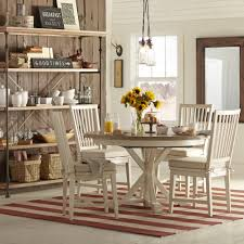 Round Country Kitchen Table Grafton Extending Round Dining Table Reviews Birch Lane