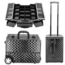 dels about rolling cosmetic beauty nail technician make up box mini trolley travel case bag