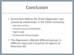 the great depression and the new deal ppt  84 conclusion economists believe the great depression