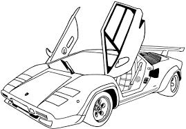 Tổng hợp các bức tranh tô màu siêu xe ô tô dành tặng cho bé