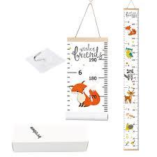 Bingolar Kids Growth Chart Children Height Chart Growth Wall Chart Height Wall Chart Art Hanging Rulers For Kids Bedroom Nursery Wall Decor Removable