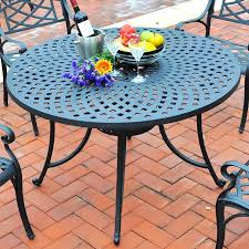crosley furniture sedona round outdoor dining table