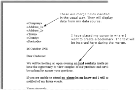 Word Tips Mail Merge Ask Fields
