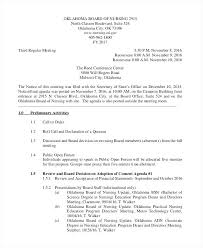 Nursing Staff Meeting Sample Agenda Example Format Danielmelo Info