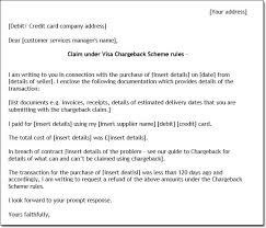 Sample Chargeback Letter Chargeback Letter
