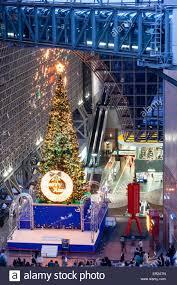 Kyoto Christmas Lights Japan Kyoto Station At Night View Along Interior Of