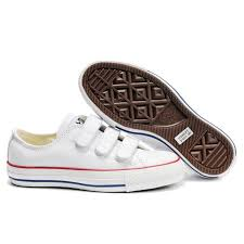 converse velcro shoes. converse 3 straps velcro chuck taylor all star leather shoes h
