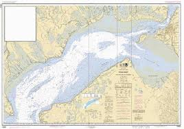 Water Charts App Cook Inlet East Foreland To Anchorage Marine Chart
