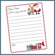 Santa List Template Free Printable Letter To Santa Template Cute Christmas