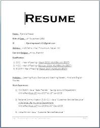 First Job Resume Examples Resume Sample For First Job Resume For