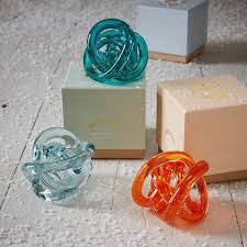 gl knot paperweights decorative accents