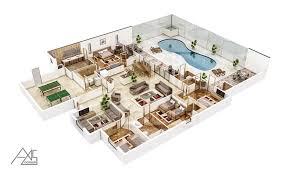 floor plan 3d. 3d Floor Plan Floor Plan 6