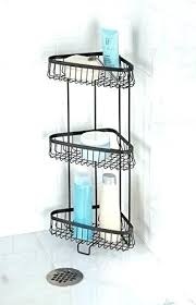 best corner shower caddy standing shelf images on x suction basket brushed nickel