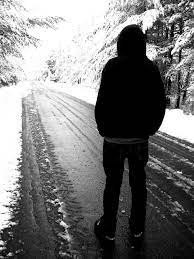 black and white sad wallpaper