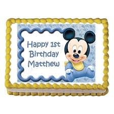Baby Mickey Mouse Baby Shower Or Birthday Party Edible Cake Image