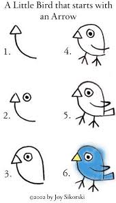 איך לצייר ציפור (חמודה).