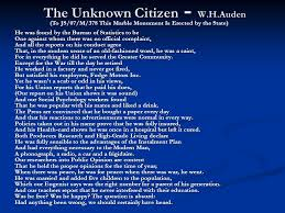 the theme of the unknown citizen by wh auden biography  fits memoir soak unfamiliar depose rendering poet picture concept wh characteristic depiction