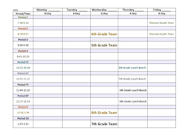 Middle School Lesson Plan Templates 5 Day Schedule Template Awesome 6 5 Day Calendar Template