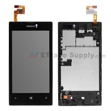 nokia lumia 520 price list. for nokia lumia 520 lcd screen and digitizer assembly with front housing replacement - black price list
