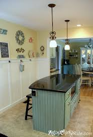 painted kitchen islandsKitchen Island Makeover  Duck Egg Blue Chalk Paint  Artsy Chicks