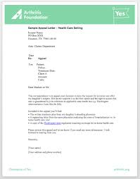 Claim Letters Sample Appeal Letters Access To Care Toolkit Arthritis Org