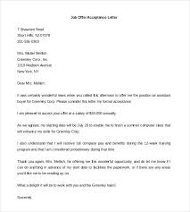Offer Letter Template 7 Free Word Documents Download Job