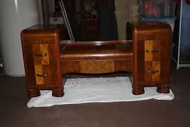 vintage art deco furniture. Antique Art Deco Full Bedroom Furniture Set - Vintage S