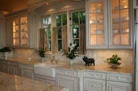 Colonial Cream Granite Kitchen 3cm Colonial Cream Granite With Subway Slate Backsplash Palatial
