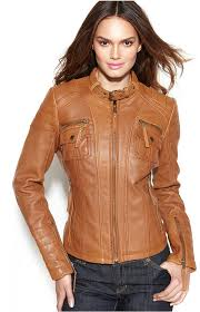 michael michael kors michl michl kors leather buckle collar motorcycle jacket