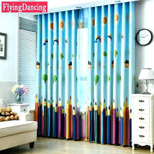 Childrens Bedroom Curtains Bedroom Blackout Curtain Blue Colorful Pencils  Kids Curtains Baby Room Curtains For Living