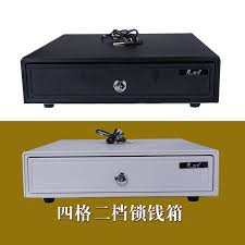 Buy Five star Cashbox-335 cash register box till four grid lock drawers pos drawer to put money in Cheap Price on