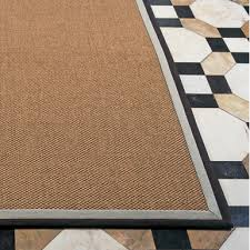 sisal big boucle classics rug this elegant sisal boucle classics rug finished with natural toned linen and cotton borders can be made to custom sizes