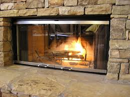 fireplaces accesories glass cover fireplace door stone fireplace mantel modern fireplace rectangle frame mesh curtain